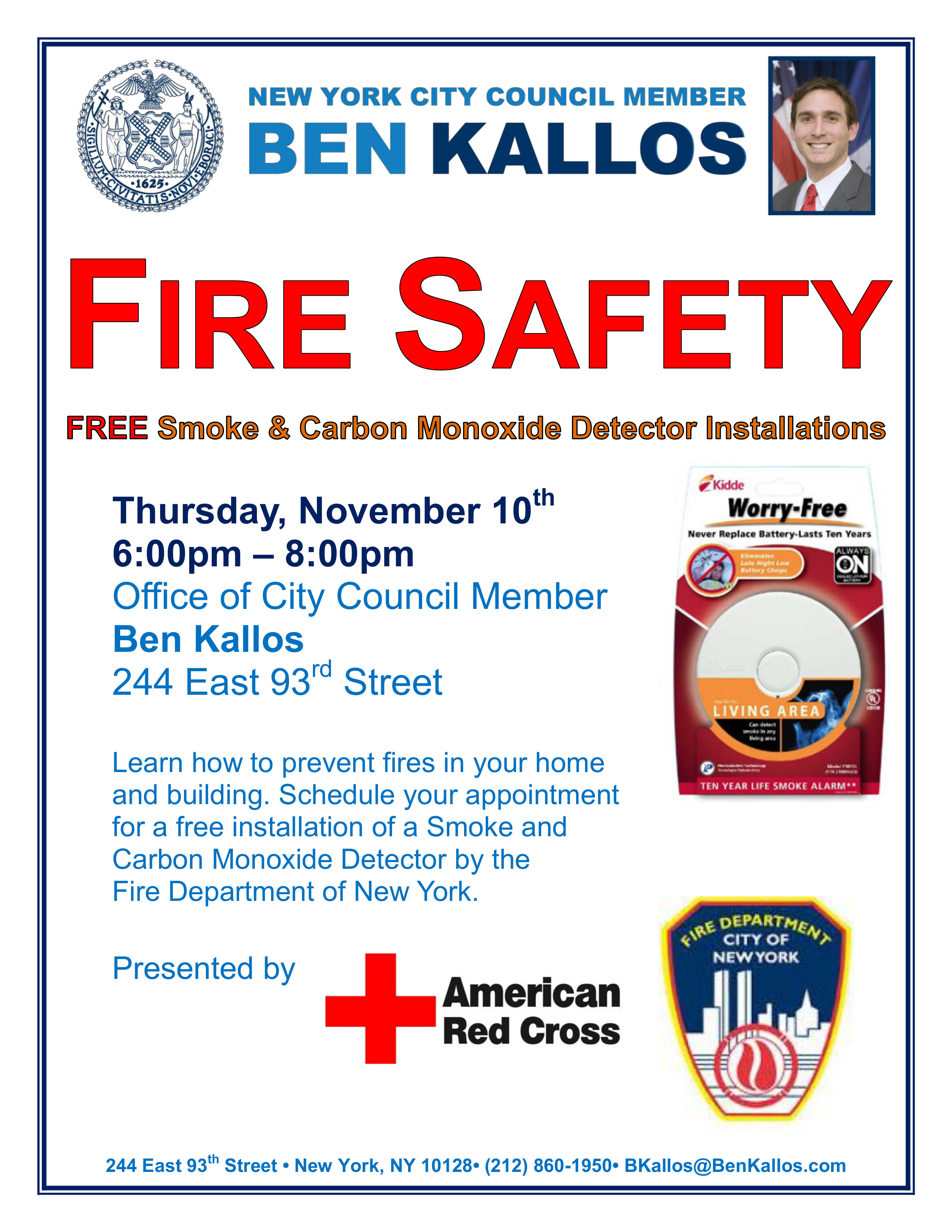Fire Safety Free Smoke And Carbon Monoxide Detector