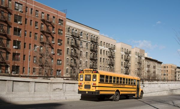 A school bus in Manhattan. Credit Education Images/UIG, via Getty Images
