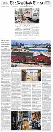 New York Times Front Page and Article