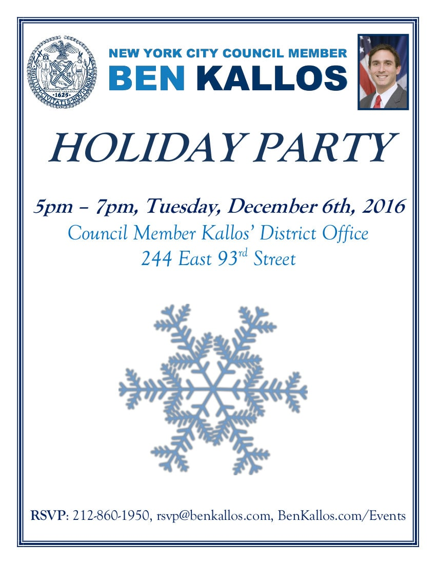 December News: Holiday Party, New Park, Mayor's Management